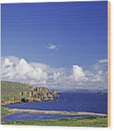 Scotland Shetland Islands Eshaness Cliffs Wood Print