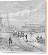 Scotland Train Crash Wood Print