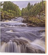 Scotland's Falls Of Dochart - Killin Scotland Wood Print