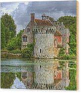Scotney Castle Reflections Wood Print