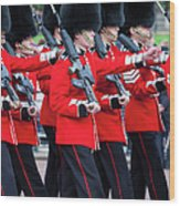 Scots Guards Wood Print
