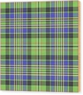 Scott Ancient Green Tartan Wood Print