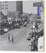 Scott Congress State Theater La Fiesta De Los Vaqueros Rodeo Banners Circa 1939 Tucson Az Wood Print