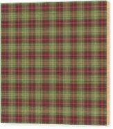 Scott Hunting Green Tartan Variant Wood Print