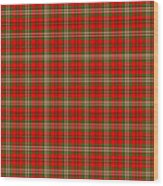 Scott Red Tartan Variant Wood Print by Gregory Scott