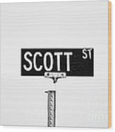 Scott St. Wood Print