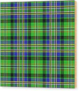 Scott Tartan Variant Wood Print by Gregory Scott