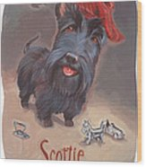 Scottie's Beaming Wood Print by Shawn Shea