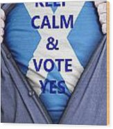 Scottish Businessman Votes Yes Wood Print