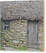 Scottish Farmhouse Wood Print