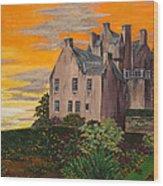 Scottish Gardens At Sunset Wood Print