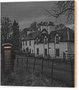 Scottish Inn Wood Print