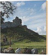 Scottish Castle Ruins Wood Print