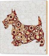 Scottish Terrier - Animal Art Wood Print