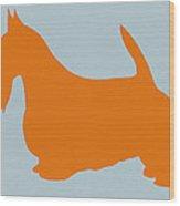 Scottish Terrier Orange Wood Print