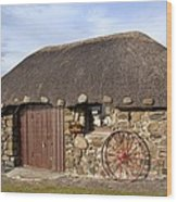 Scottish Thatched Cottage Wood Print