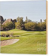 Scottsdale Golf Wood Print