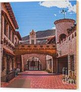 Scotty's Castle Courtyard Wood Print