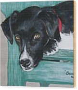 Scout Wood Print by Michele Turney