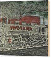 Scrapping Hoosiers Indiana Monon Train Wood Print