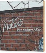 Scratch Magoo's Wilmington De Wood Print
