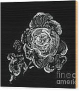 Scratched Rose Wood Print