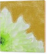 Scream And Shout Green White Brown Wood Print