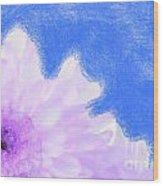Scream And Shout Purple White Blue Wood Print