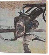 screaming Monkey Wood Print