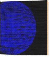 Screen Orb-27 Wood Print