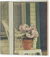 Screened Porch Wood Print
