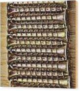 Screws In A Line 1 Wood Print