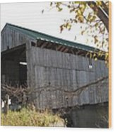 Scribner Bridge Johnson Vermont Wood Print