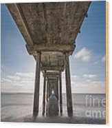 Scripps Pier Long Exposure Wood Print