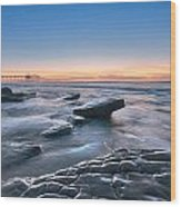 Scripps Pierr Low Tide Wood Print