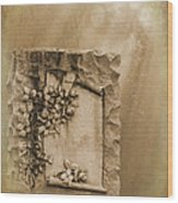 Scroll And Flowers The Forgotten Series 12 Wood Print