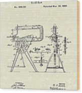 Scroll-saw 1880 Patent Art Wood Print