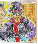 Scrooge And Scotties Wood Print
