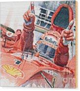 Scuderia Ferrari Marlboro F 2001 Ferrari 050 M Schumacher  Wood Print by Yuriy  Shevchuk