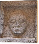 Sculpted Face At Bosra Syria Wood Print