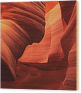 Sculpted Sandstone Upper Antelope Slot Canyon Arizona Wood Print
