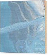 Sculpting A Blue Streak Wood Print