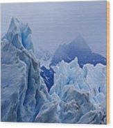 Sculpture In Blue Wood Print