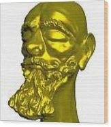Sculpture Wood Print by Moshfegh Rakhsha