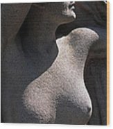 Sculpture Of Angelic Female Body Wood Print