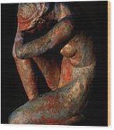 Sculpture Of Nude Woman Wood Print
