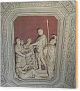 Sculptured Vatican Ceiling Wood Print