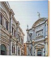 Scuola Grande Di San Rocco And San Rocco Church Wood Print