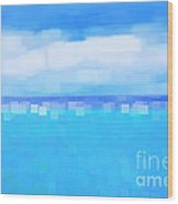 Sea And Sky Abstract Wood Print by Natalie Kinnear