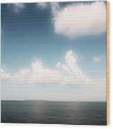 Sea And Sky - Clouds And Horizon Wood Print